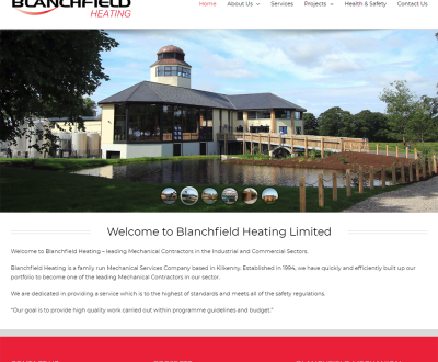 Blanchfield Heating - New Website Launched