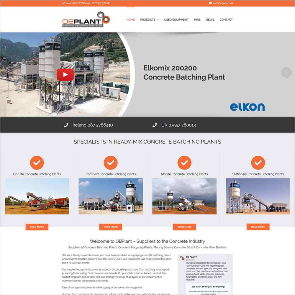 OB Plant - New Website Launched